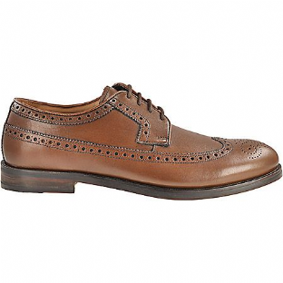 Clarks Mens Coling Limit Brogue Tan Leather Shoes